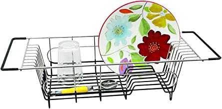 """Better Houseware # 1484.8 Over Sink dish drainer, 19.25 x 8.25 x 4.5"""", Stainless Steel"""