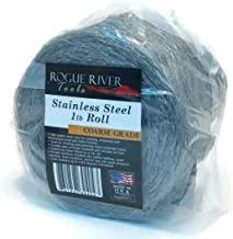 Rogue River Tools Stainless Steel Wool 1lb Roll (Coarse Grade) - Made in USA!