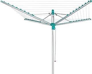 Leifheit Séchoir parapluie Linomatic 500 Easy, étendoir à linge 50 m avec sytème Easy-Lift, séchoir à linge avec rétractat...
