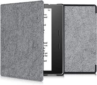 kwmobile Funda para Amazon Kindle Oasis 10. Generation - Carcasa Plegable de Fieltro para e-Reader - Case en Gris Claro