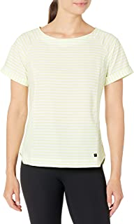 Helly Hansen Women's Thalia T-Shirt, 379 Sunny Lime Stripes, X-Large