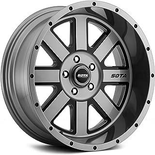 Sota Offroad A.W.O.L. Сustom Wheel - Anthra-Kote with Black Windows and Black Rivets 20