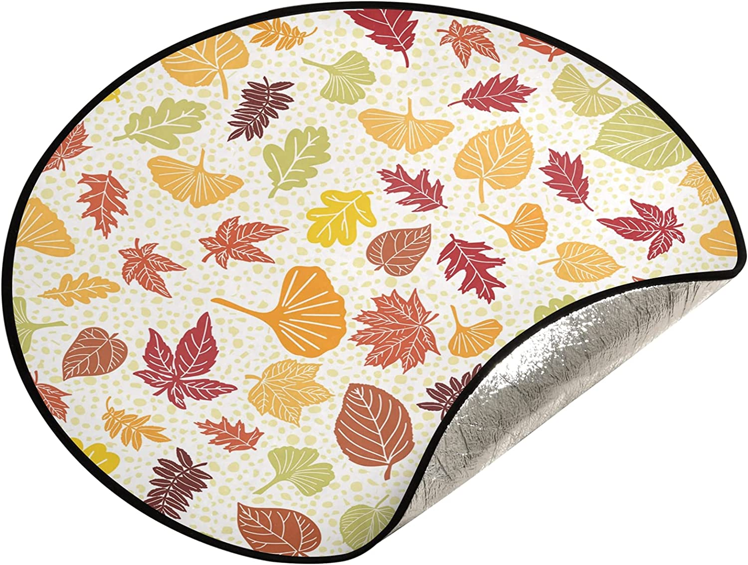 JUMBEAR Thanksgiving Maple 2021 spring and summer Max 88% OFF new Leaf Tree Stand Christ Mat Waterproof