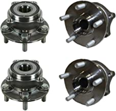 Detroit Axle - Front and Rear Wheel Bearing and Hub Assembly Set for 2009-2013 Subaru Forester - [2010-2014 Subaru Legacy]...