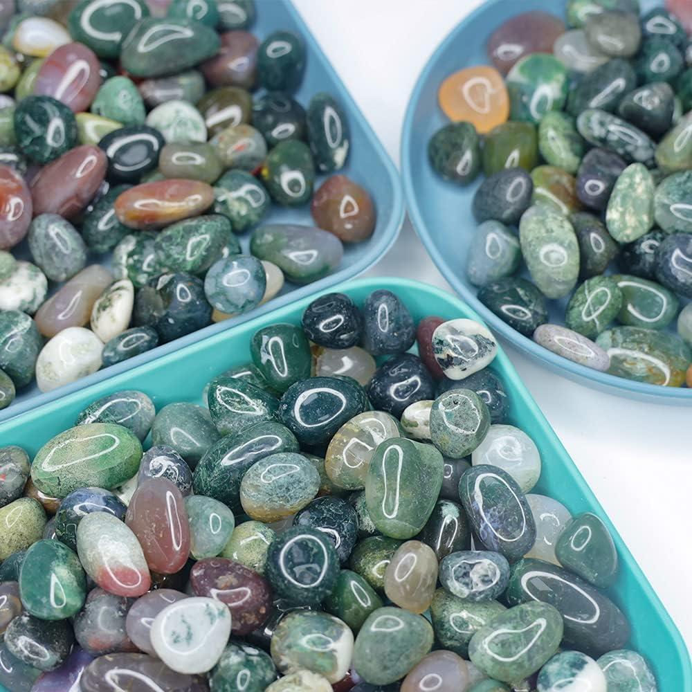 NINGYE 1.1lbs Decorative Round 4 years warranty 0.4-0.8inch Rocks Pebbles Tumbled Brand new