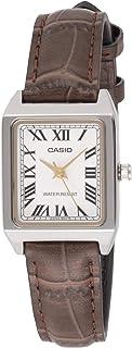 ساعة كاسيو للنساء جلد بني LTP-V007L-7B2UDF