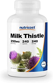 Nutricost Milk Thistle 250mg, 240 Veggie Capsules - 4:1 Extract - 1,000mg Equivelent, Non-GMO and Gluten Free