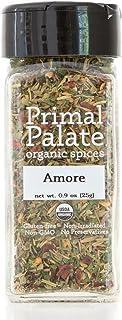 Primal Palate Organic Spices Amore Seasoning, Certified Organic, 0.9 oz Bottle