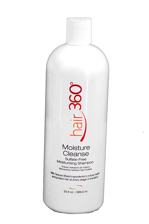 Hair 360 Moisture Cleanse Financial sales sale Sulfate 4 years warranty Free Shampoo 33.8 Moisturizing