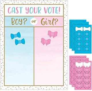 Creative Converting Gender Reveal Balloons Cast Your Votes Game, Multicolour