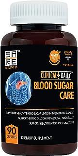 Blood Sugar Support & Glucose Metabolism Diabetes Supplement. Vitamins C B E, Magnesium, Zinc, Biotin, Alpha Lipoic Acid, Cayenne Pepper, Juniper Berries. 90 Bitter Melon Capsules. Clinical Daily