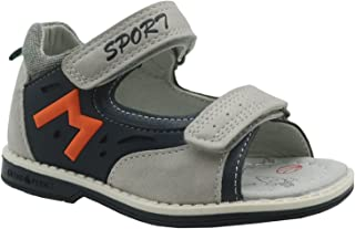 Ying-xinguang Kid's Shoe Casual Boys Double Hook-and-Loop Sport Orthopedic Sandals (Toddler) Comfortable