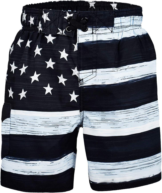 US Apparel Big Boys American Flag Inspired Board Shorts