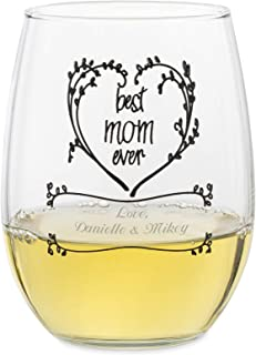 things remembered stemless wine glasses