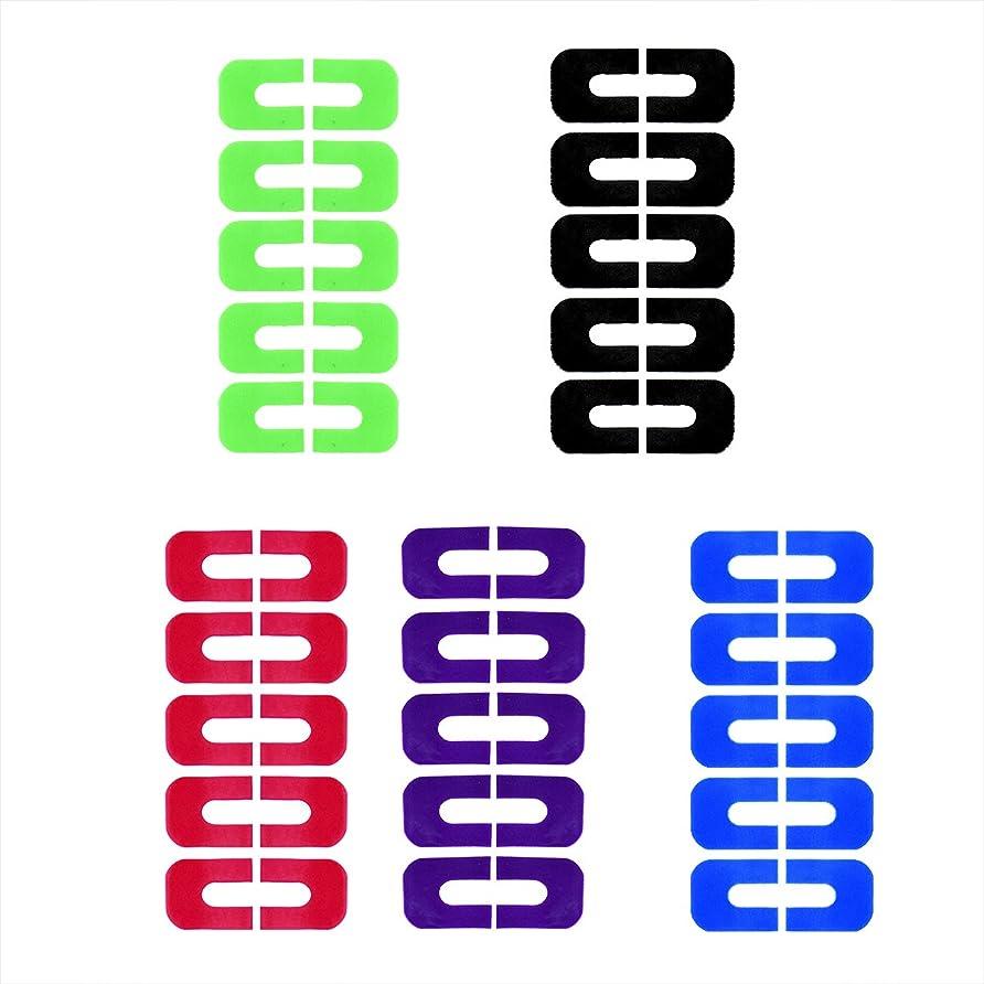 進む抱擁樹皮Goshang ネイルプロテクター ネイルクリップ ピールオフテープ 肌にやさしいシートタイプ 溢れを防止 5枚セット スタンピングプレートツール