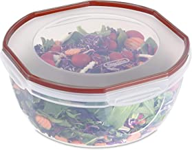 product image for Sterilite Ultra Seal 8.1 Quart Bowl, Clear Lid & Base w/Red Rocket Gasket, 2-Pack