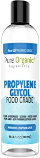 Propylene Glycol (4 oz.) by Pure Organic Ingredients, 100% Pure, Food & Pharmaceutical Grade, Hypoallergenic Moisturizer and Skin Cleanser