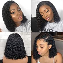 360 Human Hair Lace Front Wigs with Baby Hair Pre Plucked Lace Frontal Wigs Deep Water Wave Lace Front Wigs Human Hair Curly Wet and Wavy Wigs Glueless Lace Wigs Unprocessed Brazilian Remy Human Hair