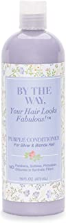 Purple Conditioner by The BTW Co. for Silver, Gray & Blonde Hair: Brighten and Remove Yellow or Brassy Tones with No Sulfates, No Parabens – 16 ounce – Cruelty-Free for Color-Treated and Natural Hair