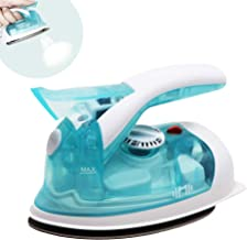 IIMII Mini Travel Steam Iron, Dual Voltage 560W Power, Rapid Heat Up Time, Powerful Steam Burst, Non-Stick Soleplate, Compact Design, Best Travel Quilting Sewing Iron