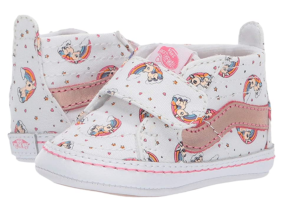 Vans Kids SK8-Hi Crib (Infant/Toddler) ((Unicorn Rainbow) Pink Lemonade/True White) Girls Shoes