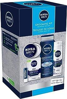 Nivea Men holiday grooming Kit for Sensitive Skin, Shaving Kit for Men, 3 In 1 Body Wash, Lip Balm and hand Cream, 1 Count