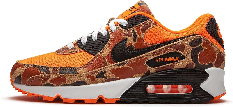 Nike Mens Air Max 90 Orange Duck Camo Cw4039 800 - Size