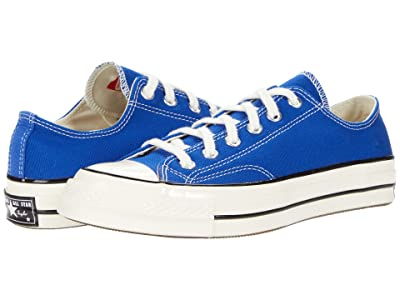 Converse Chuck 70 Organic Canvas Ox (Rush Blue/Egret/Black) Athletic Shoes