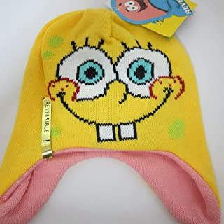 Spongebob Squarepants SPONGEBOB / PATRICK Reversible Knitted LAPLANDER Hat/Cap