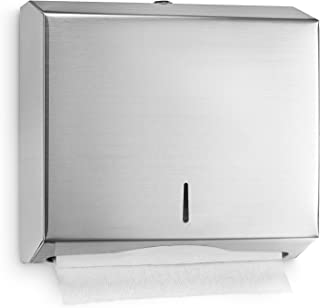 Alpine Industries C-Fold/Multifold Paper Towel Dispenser - Brushed Stainless Steel (290 C Folds/ 380 Multi-Fold)