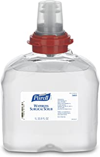 PURELL Waterless Surgical Scrub, Fragrance Free, 1000 mL Scrub Refill for PURELL TFX Surgical Scrub Touch-Free Dispenser (Pack of 4) - 5483-04