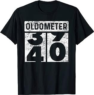 Oldometer Odometer Funny 40th Birthday Gift 40 yrs T-Shirt