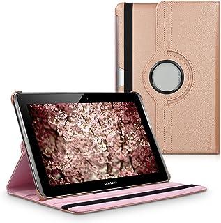 kwmobile Funda Compatible con Samsung Galaxy Tab 2 10.1 P5100/P5110 - Carcasa de Cuero sintético para Tablet en Oro Rosa