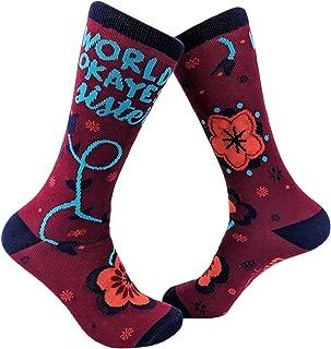 Worlds Okayest Sister Sock Funny Cute Sibiling Love Footwear