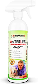 Vet Recommended Waterless Dog Shampoo No Rinse Dry Shampoo for Dogs (16oz/473ml), Detergent and Alcohol Free, Apple Extract - Perfect for Spot Cleaning The Dog Coat - Made in USA