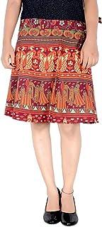 Rajvila Rajasthani Wrap around Printed Skirt for Women Jaipuri Print Skirt (F_W18NT_0007)