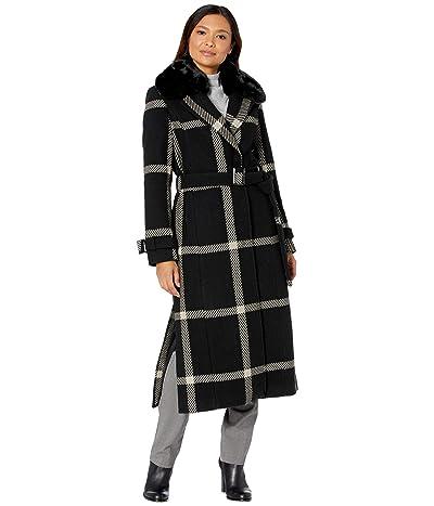 Vince Camuto Maxi Wool Coat V20767B (Black/Grey 2) Women