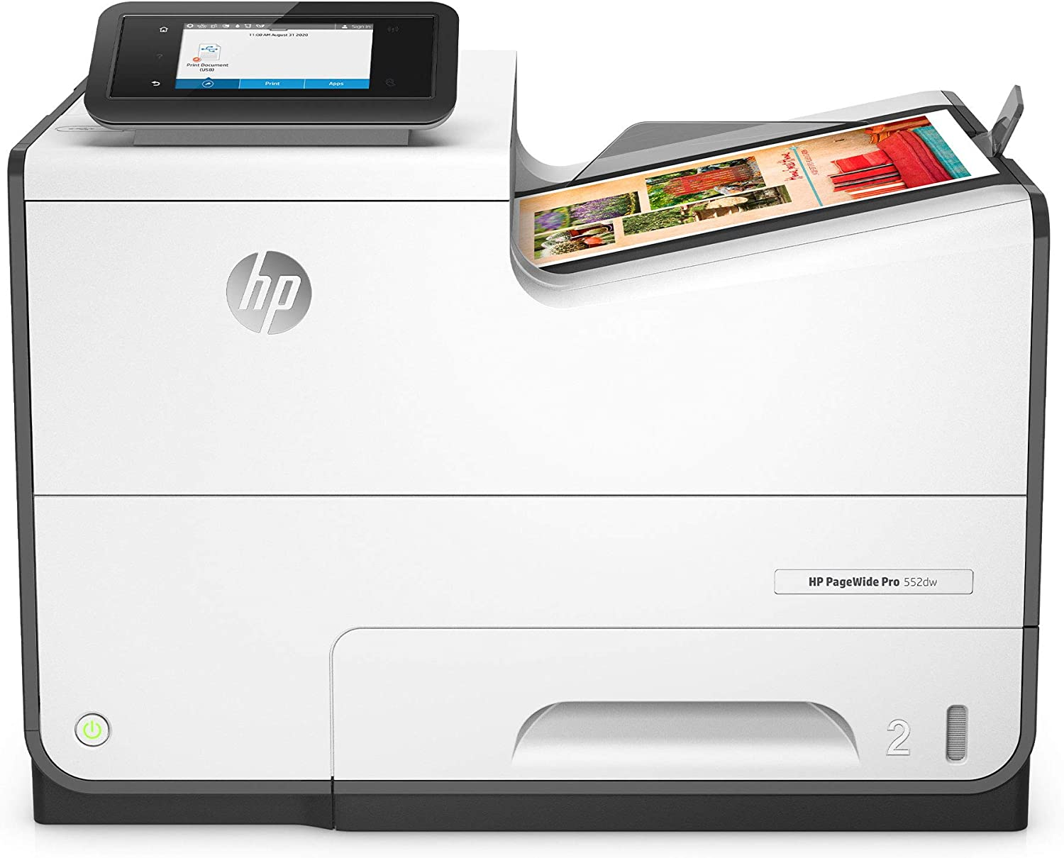 HP PageWide Pro 552DW Color Business Printer, Wireless & 2-Sided Duplex Printing, 20.8 x 23.6 x 19.5 (D3Q17A#B1H)
