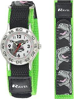 Ravel - orologio da dinosauro per bambini con cinturino d'azione a chiusura facilitata