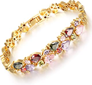 Sukkhi Crystals from Swarovski Gold Plated Bracelet for Women and Girls (BC81042)