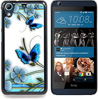 STPlus Blue Butterflies and Flowers Hard Cover Case for HTC Desire 626 / 626s