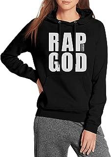 Black Women Pullover Hoodie Sweater Eminem-Rap-God-Slim-Shady-Records- Fleece Long Sleeve