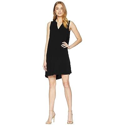 Michael Stars Rylie Rayon Sleeveless V-Neck Dress (Black) Women