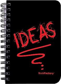 "BookFactory Idea Book/Idea Journal/Mini Ideas Notebook/Pocket Idea Log Book 120 Pages - 3 1/2"" x 5 1/4"