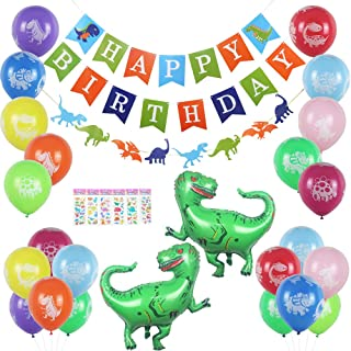 LALALA party Dinosaur Party Supplies Kit   Happy Birthday Banner Party Set   Dinosaur Party Decorations for Kids, Birthdays, Celebrations