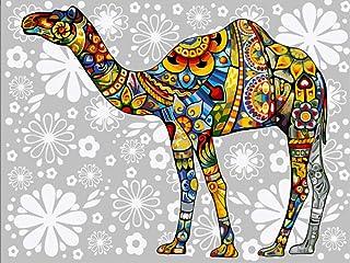 Diy Oil Painting Diamond Painting digital Painting_Diy Digital Painting Creative Painted Animal Oil Painting Camel