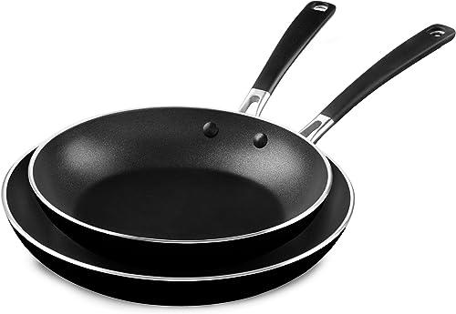 "new arrival KitchenAid Onyx Black, outlet online sale M Aluminum Nonstick outlet sale 10"" and 12"" Skillets Twin Pack, Medium outlet sale"