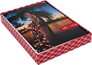 Image Arts Boxed Christmas Cards, Christmas Light Palm Tree (16 Cards with Envelopes)
