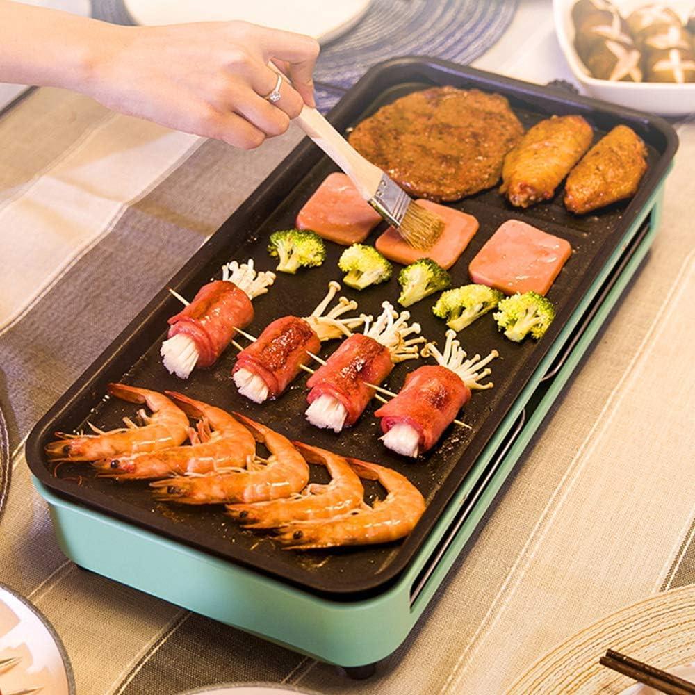 Kyman Portable électrique Barbecue Grill Smokeless Barbecue Machine Grill de Table intérieur, l'eau Goutte à Goutte Rempli Plateau, Facile à Nettoyer, Vert, 4 (Color : 2) 7