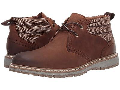 Stacy Adams Grantley Plain Toe Chukka Boot (Brown Crazy Horse) Men